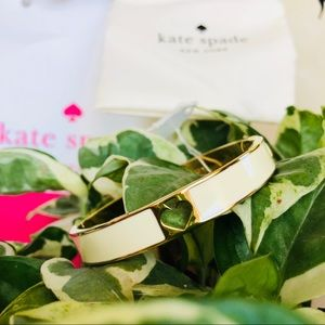 New Kate spade cream& gold bracelet